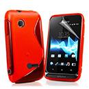 Custodia Sony Xperia Tipo ST21i S-Line Silicone Bumper - Rosso