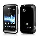 Custodia Sony Xperia Tipo ST21i Silicone Case - Nero