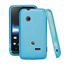 Custodia Sony Xperia Tipo ST21i Silicone Trasparente Case - Blu