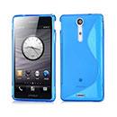 Custodia Sony Xperia TX LT29i S-Line Silicone Bumper - Luce Blu