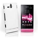 Custodia Sony Xperia U ST25i Plastica Cover Rigida Guscio - Bianco
