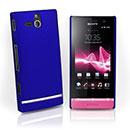 Custodia Sony Xperia U ST25i Plastica Cover Rigida Guscio - Blu