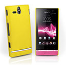 Custodia Sony Xperia U ST25i Plastica Cover Rigida Guscio - Giallo