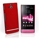 Custodia Sony Xperia U ST25i Plastica Cover Rigida Guscio - Rosso