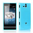 Custodia Sony Xperia U ST25i Silicone Bumper - Blu