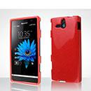 Custodia Sony Xperia U ST25i Silicone Bumper - Rosso