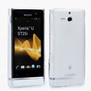 Custodia Sony Xperia U ST25i Silicone Trasparente Case - Bianco