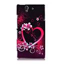 Custodia Sony Xperia Z L36H Amore Plastica Cover Rigida - Porpora