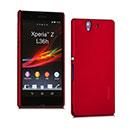 Custodia Sony Xperia Z L36H Plastica Cover Rigida Guscio - Rosso