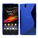 Custodia Sony Xperia Z L36H S-Line Silicone Bumper - Blu