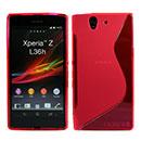 Custodia Sony Xperia Z L36H S-Line Silicone Bumper - Rosso