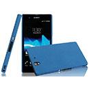 Custodia Sony Xperia Z L36H Sabbie Mobili Cover Bumper - Blu