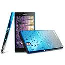 Custodia Sony Xperia Z L36H Sfumatura Cover Bumper - Blu