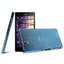Custodia Sony Xperia Z L36H Ultrasottile Plastica Cover Rigida Guscio - Blu
