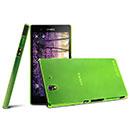 Custodia Sony Xperia Z L36H Ultrasottile Plastica Cover Rigida Guscio - Verde