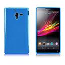 Custodia Sony Xperia ZL L35H Silicone Bumper - Blu