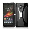 Custodia Sony Xperia ZL L35H X-Line Silicone Bumper - Nero