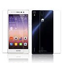 Huawei Ascend P7 Proteggi Schermo Film Posteriore e Anteriore - Chiaro